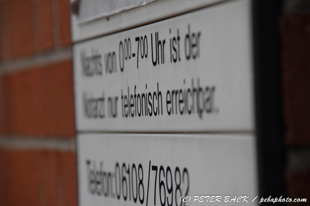 Telefonnummer des ärztlichen Bereitschaftsdienstes Mühlheim